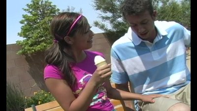 Audrianna Angel - My Ice Cream Cone brings all the boys to my Yard