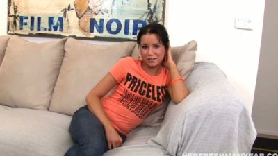 cute ass Tanner sucking her interviewers cock