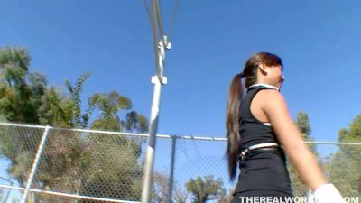 busty Asian cutie getting fucked hard by her basketball coach