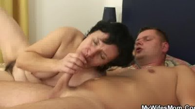 Mature lady surprised by her inlaw