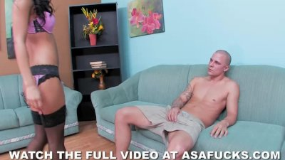 Asa Akira gets her pussy pounded hard