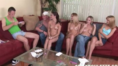 Young openminded couples meet to play sex games, swing fuck
