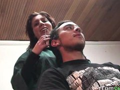 amateur latin chica gets her shaved pussy rammed