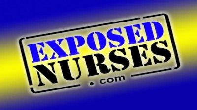 Blond junior nurse Kristyna inserts speculum in her pussy