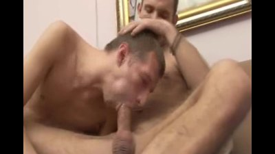 Hot bareback fucking then shoots the cum in his ass