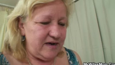 Wife finds her man fucking big granny