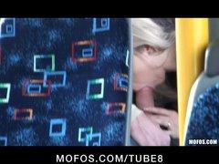 BLONDE TEEN CAUGHT ON TAPE FUCKING ON PUBLIC BUS
