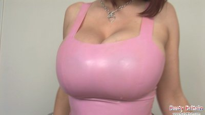 Latex Lovely Lexy Shows Giant Boobs
