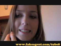FakeAgent  Teen gets her first creampie