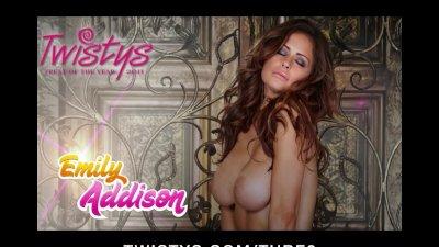Horny bigtit brunette teen slut dildofucks wet pussy to orgasm