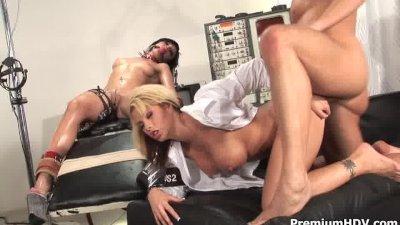 Weird sex game with a slave