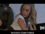 Hot and Horny busty blonde babe Nicole Aniston fucked hard by cop