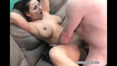 Buxom Lexxxi getting her wet pussy fucked hard