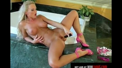 Blonde Cums Hard With Vibrator