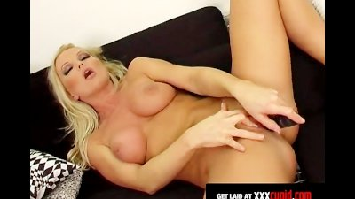 Hot Blonde Licks Pussy Juices