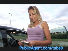 PublicAgent Jennifer rides in the car park