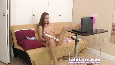 Lelu LovePink Dildo Hitachi Webcam Masturbation