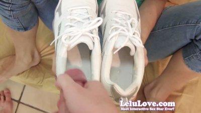 Lelu LovePOV Footjob Cum In Sneakers