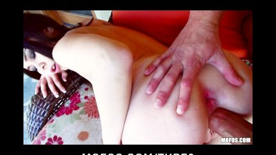 Amateur chick with a fat ass is punished with rough anal