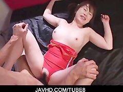 Asian Schoogirl Kokoro Miyauchi nailed in her swimsuit