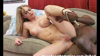 Hot businesswoman on a ebony cock