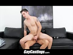 GayCastings Tatted nurse wants to make big  in porn