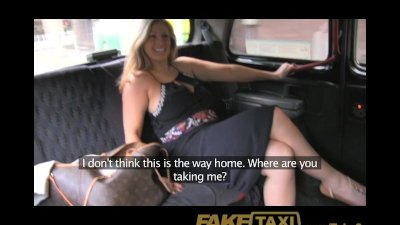 FakeTaxi Dirty, horny blonde fucked over Taxi bonnet