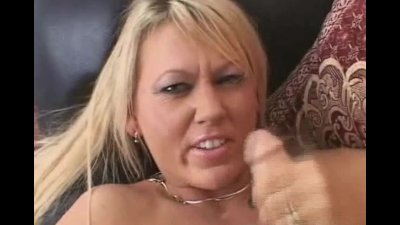 Blonde Babe Wild Stroke on Big Dick