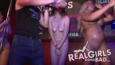 AMATEUR COLLEGE GIRLS GO CRAZY AND NAKED DURING A WET T-SHIRT CONTEST