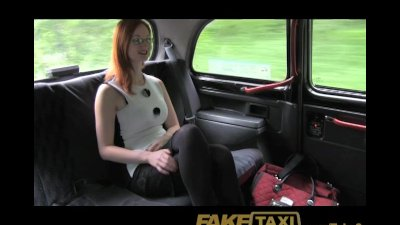 FakeTaxi Red head with big natural tits trys for easy cash