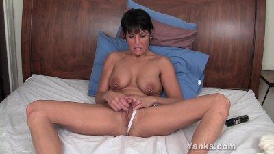 tickling her piercied clitoris