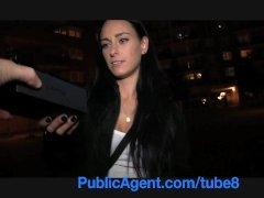 PublicAgent Dark haired stunner fucks for free phone