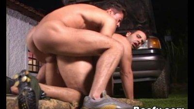 Beefy Hunks Having Great Sex Outside