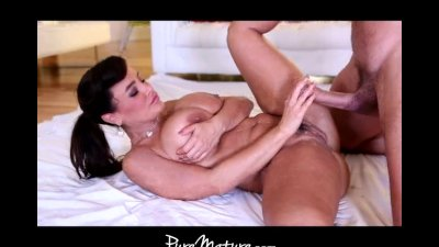 PureMature Huge-tittied MILF exercises on a guy's pole