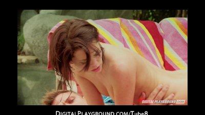 Waterfall passion with Kiera Winters