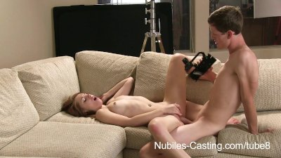 Nubiles Casting - Can he convince her to fuck on camera?