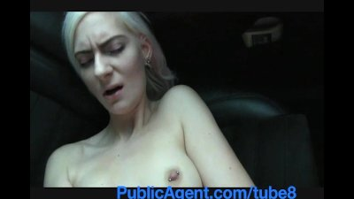 PublicAgent Blonde stunner shows sexy black underwear and gets pounded