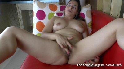 Hot Latina Frantic Finger Rubbing Masturbation to Pulsing Orgasm