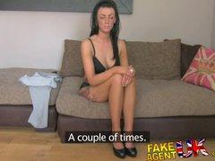 FakeAgentUK Sexy fake casting amateur takes huge cumshot in mouth