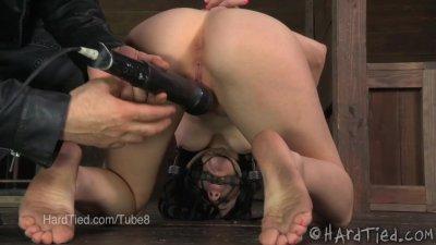 Veruca James Struggles in a Nipple Clamp and Bondage Predicament