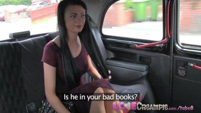 Love Creampie London slut cheats on boyfriend with taxi driver for cash