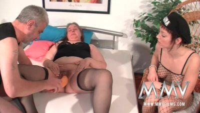 MMV Films German slut helping out a fat mature wife to orgasm
