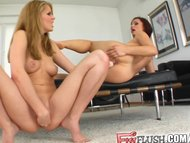 Fist Flush Fist fetish lesbians go to work on each other