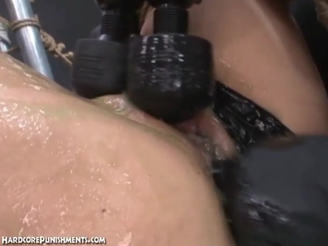 Oriental women is greased up and used as sex slave