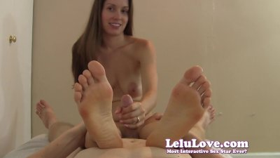 Stroking your cock POV with my feet and soles in your face
