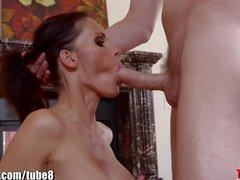 Throated Jennifer Dark is giving me her best deepthroat