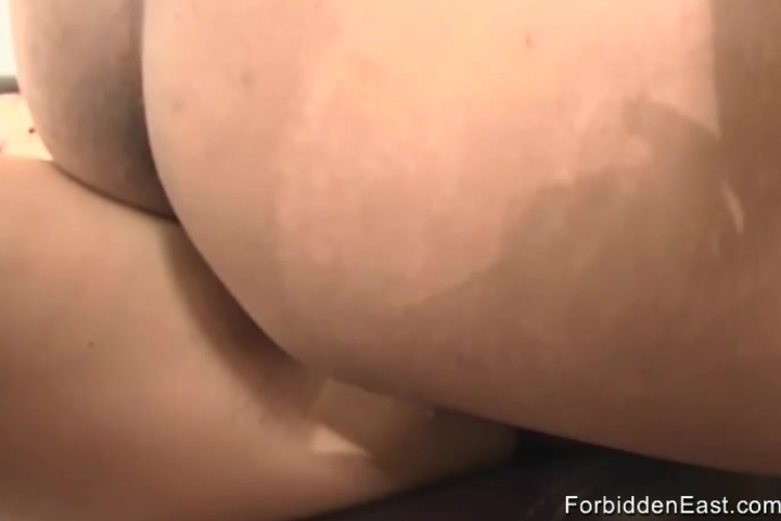 Teen Asian gets her pussy pounded on the sofa