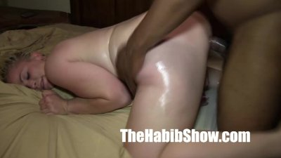 BBC blonde pussy loves her sex toy and BBC