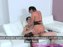 FemaleAgent  MILF is shy guys last chance to lose his virginity