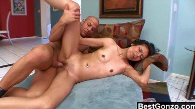Exotic Slut Gagging On Jizz